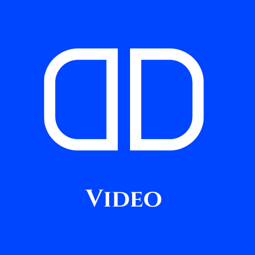 """DD Logo with the text """"Video"""" underneath"""